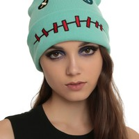 Licensed cool Disney Lilo & Stitch SCRUMP Doll Character Watchman Green Knit Beanie Hat Cap