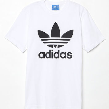 adidas Trefoil White T-Shirt at PacSun.com