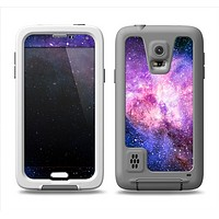 The Vibrant Purple and Blue Nebula Samsung Galaxy S5 LifeProof Fre Case Skin Set