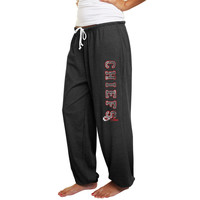 Kansas City Chiefs Women's Plus Sizes Tapered Fleece Pants - Charcoal