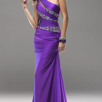 2013 Sexy One Shoulder Evening Dresses Beaded Party Formal Prom Ballgown*Custo​m