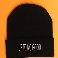 Up To No Good Black Beanie