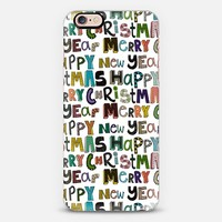white merry christmas happy new year iPhone 6s case by Sharon Turner | Casetify