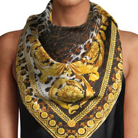 Versace Collection Wild Baroque Silk Scarf