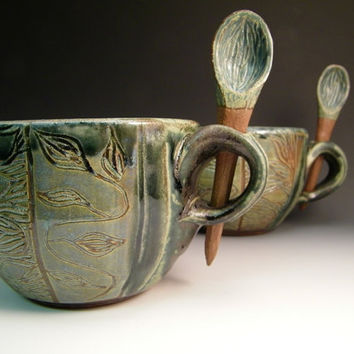 Soup Things Up Soup Bowl or Latte Mug by LorettaWrayPottery