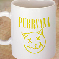 Purrvana Cat Black logo Ceramic Coffee Mug,tea mug,cup mug 11 oz. Coffee Mug measures 9,5 cm. tall and 8,2 cm. in Centimeter.