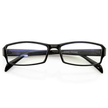 Modern Rectangular Basic Frame Clear Lens Fashion Small Frame Glasses