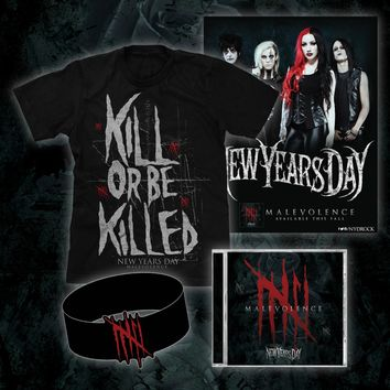 Malevolence - Signed CD/T-Shirt/Wristband/Poster Bundle : NYD0 : New Years Day