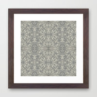 Frozen Framed Art Print by Project M
