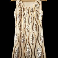 1920s Style Vintage Flapper Sequin Art Deco Glamour Gatsby Charleston Dress