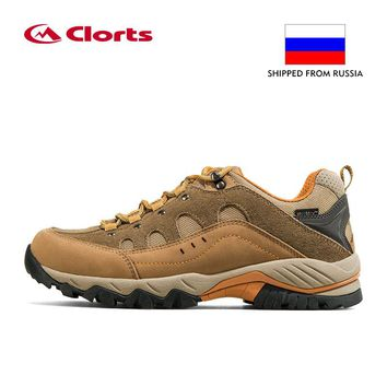 Russia Domestic Delivery Outdoor Hiking Boots Clorts Suede Leather Climbing Shoes Men Waterproof Mountain Hiking Shoes HKL-815