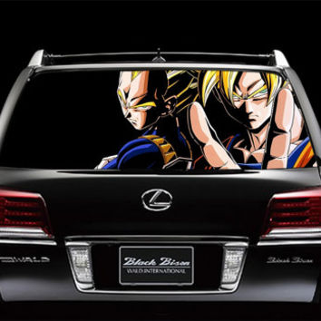 Perfik39 Full Color Print Perforated Film Truck SUV Back Window Sticker Dragon Ball Z anime