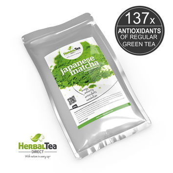 Japanese Matcha Green Tea Powder Freshly Stone Milled From Kyoto Japan - Regular Grade - 100g / 3.5oz