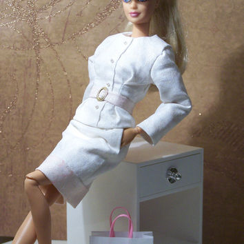 """OOAK """"First Blush"""" Valentine's Day cocktail suit for Fashionista Barbie"""