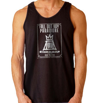 Fall Out Boy Paramore Monumentour For Mens Tank Top Fast Shipping For USA special christmas ***