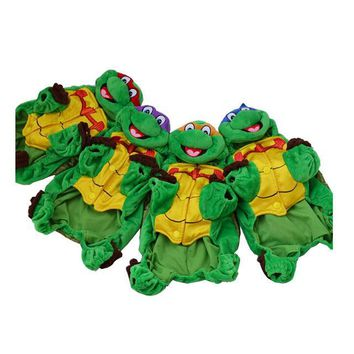 NEW Halloween Dog Cat Costume Green Turtle Pet Overalls outfit Clothes for small dog Color Send Random