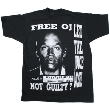 Free o j simpson vintage t shirt from burgerandfriends on etsy