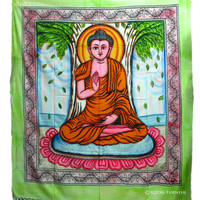 Indian Buddha Canvas Hippie Bohemian Cotton Tapestry Wall Hanging