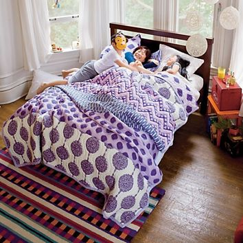 Kids' Bedding: Girls' Purple Bazaar Quilt in Quilts | The Land of Nod