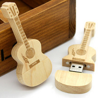 Wooden Guitar U disk 16G (1 piece)