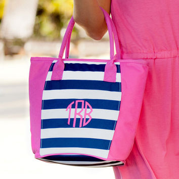 Drink In My Hand - Prep Stripe Cooler Tote | Driftwood Market