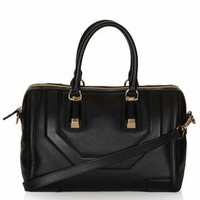 Icon Leather Holdall Bag - Black