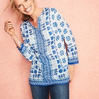 Talbots - Seaside Tile Tunic | | Misses Discover your new look at Talbots. Shop our Seaside Tile Tunic for stylish clothing and accessories with a modern twist at Talbots