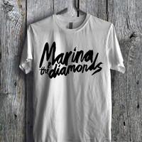 Marina and the diamonds Logo Tee  - D1zL Unisex Tees For Man And Woman / T-Shirts / Custom T-Shirts / Tee / T-Shirt