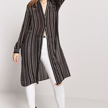 Striped Sheer Tunic
