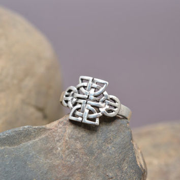 Sterling Silver Celtic Knot Tribal Ring