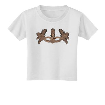 Earth Masquerade Mask Toddler T-Shirt by TooLoud