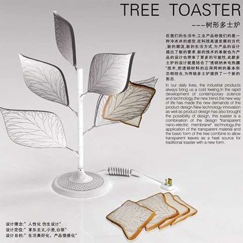 Tree-Like Toasters - The Transparent Tree Toaster by Xu Yan Xiang Holds Slices Like Leaves (GALLERY)