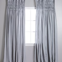 Smocked Top Ocean Curtains