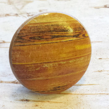 Distressed Wood Knob Drawer Pulls, Light Orange Tones, Old Wood Cabinet Handles, Barn Wood Style, Reclaimed Wood, Made To Order, Style 1