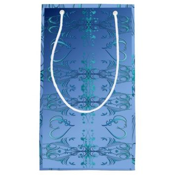 Ornate Blues Small Gift Bag