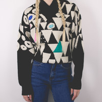 Vintage Tribal Geometric Sweater
