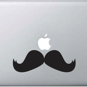 Mustache Laptop Decal Sticker Wall Vinyl Art Design