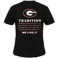 Georgia Tradition T-Shirt | Georgia Bulldogs T-Shirt | UGA T-Shirt | UGA Tradition T-Shirt