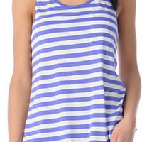 Glamour Kills Ahoy Blue Stripe Racerback Tank Top