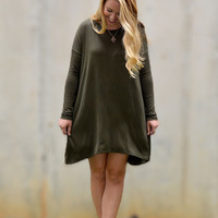 Long Sleeve Olive Dress