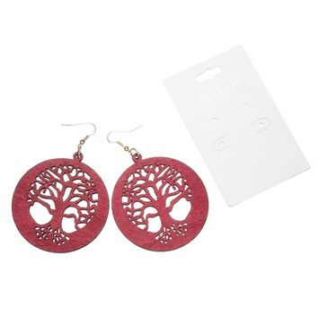 Wood Jewelry Earring Personality Hollow latest african wood earrings For Women