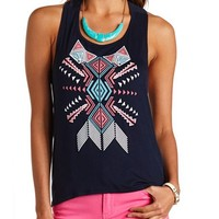 AZTEC GRAPHIC HIGH-LOW TANK TOP