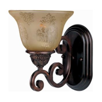 "7"" Oil Rubbed Bronze 1-Light Wall Sconce Antique Style Etched Glass Gothic"