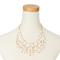 Ivory Flower Statement Necklace