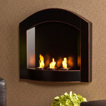 Teva Arch Top Wall Mount Fireplace | Overstock.com
