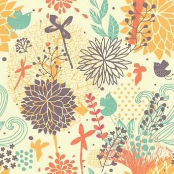 Removable Wallpaper - Fantastically Floral