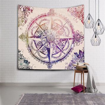 Fashion Joyous Elephant Mandala Tapestry Wall Hanging Tapestries Boho Decor Bedspread wall carpet Elephant Wall Blanket Cloth