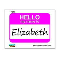 Elizabeth Hello My Name Is Sticker