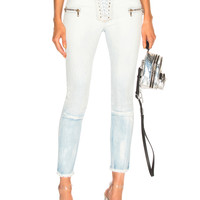Unravel Gradient Lace Up Skinny in Blue   FWRD
