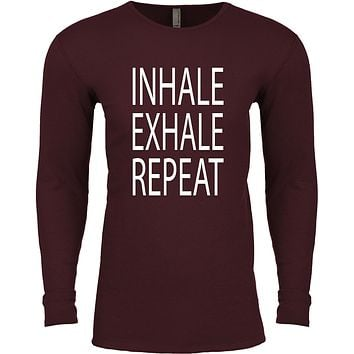 Inhale Exhale Repeat Long Sleeve Thermal Yoga Tee Shirt